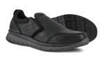 SD Black Steel Toe Slip-On Shoes