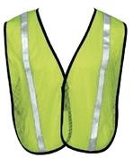Liberty Glove and Safety Hivizgard Lime Green Wide Stripped Safety Vest