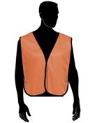 Liberty Glove and Safety Hivizgard Neon Orange Plain Mesh Safety Vest