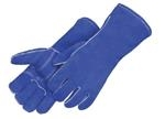 Kevlar® Blue Leather Welding Gloves With Reinforced Thumb & Palm