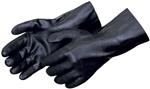 Sandpaper Finish Black PVC Glove