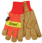 Kinco® Heatkeep® Hi-Viz Waterproof Pigskin Gloves