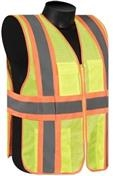 Liberty Glove and Safety Hivizgard Striped Safety Vest