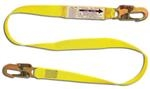 6' Shock Absorbing Web Lanyard w/ Snap Hooks At Each End
