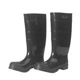 DuraWear PVC Black Plain Toe Boots