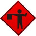 Flagger Roll Up Traffic Sign