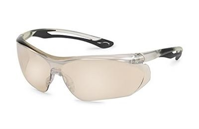 Parallax™ Black Flex Clear Mirror Safety Glasses