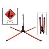 Single-Spring Screwlock Sign Stand