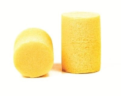 3M Yellow Cylinder Classic Earplugs, NRR of 29dB