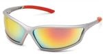 Gateway Safety Sunset Red Mirror Lens Sport Glasses