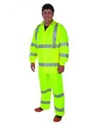 DuraWear® Class 3 3-Piece Hiviz Lime Green Rainsuit