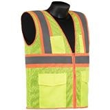Liberty Glove And Safety Class 2 Lime Green Fluorescent Mesh Vest