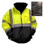 High Visibility ANSI Class 3 Quilted Bomber Jacket