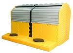 UltraTech Modular 2-Tank IBC Spill Pallet, Outdoor Model