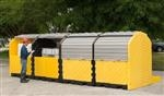 UltraTech Modular 4 Tank IBC Spill Pallet, Outdoor Model