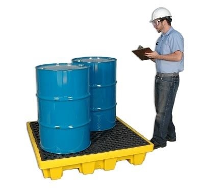 Nestable Spill Containment Pallet With Drain