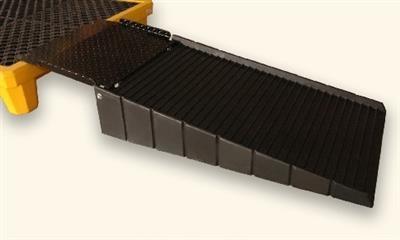 Polyethylene Ramp With Steel Plate