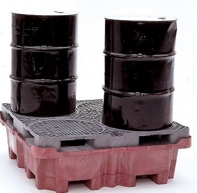 Spill King With Drum Pallet and Drain