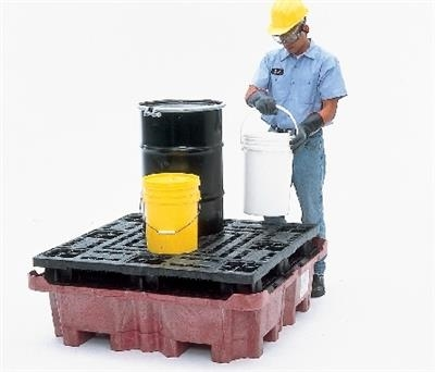 Spill King With Flat Deck Pallet