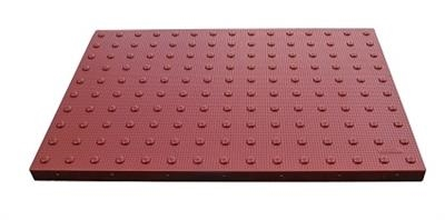 Red Surface Mount ADA Pads