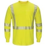 Bulwark Hi Visibility Lightweight Long Sleeve T Shirt