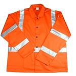 West Chester Protective Gear Irontex Hi Visibility FR Orange Cotton Jacket