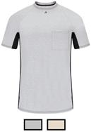 Bulwark Excel FR Short Sleeve Two-Tone Gray Base Layer with Concealed Chest Pocket