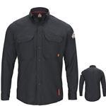 Bulwark iQ Series Navy Long Sleeve Comfort Woven Lightweight Shirt