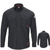 Bulwark iQ Series Navy Long Sleeve Comfort Woven Lightweight Shirt