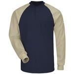 Bulwark Excel FR Long Sleeve Color-Block Tagless Henley Shirt