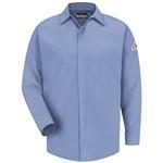 Bulwark Excel FR ComforTouch 7oz Light Blue Concealed-Gripper Pocketless Shirt