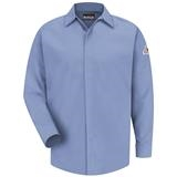 Bulwark Excel FR ComforTouch 7oz Light Blue Concealed-Gripper Pocketless Shirt