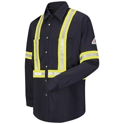 Bulwark Excel FR ComforTouch 7oz Dress Uniform Shirt with CSA Reflective Trim