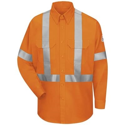 Bulwark Excel FR ComforTouch 6oz Hi Visibility Work Shirt With CSA Compliant Reflective Trim