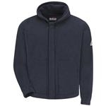 Bulwark® Modacrylic Blend Zip front Hooded Fleece Sweatshirt