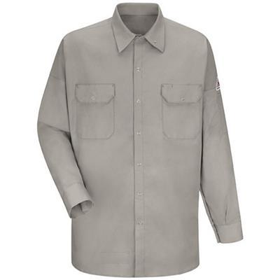 Bulwark Excel FR 7oz and Tuffweld 8.5oz Silver Gray Welding Work Shirt