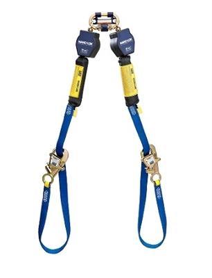 9 ft. Tie-Back Twin-Leg Quick Connect Self Retracting Lifeline, Web