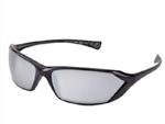 Metro Black Frame Mirror Safety Glasses