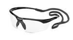 Conqueror® Glossy Black Frame Clear Safety Glasses
