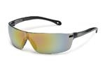 StarLite® SQUARED Gray Temple Red Mirror Safety Glasses