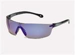 StarLite® SQUARED Gray Temple Blue Mirror Safety Glasses