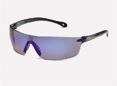 StarLite® SQUARED Gray Temple Blue Mirror Safety Glasses