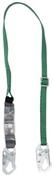 V-Series™ Standard Single Leg 6ft Adjustable Lanyard, 36C Small Snaphooks