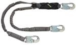 V-Series™ Stretch Twin Leg 6ft Lanyard, 36C Small Snaphooks
