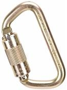 MSA Auto-Locking Steel Carabiner, 9/16in Gate Opening