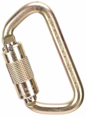 MSA Auto-Locking Steel Carabiner, 9/16in Gate Opening