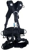Gravity® Black Suspension Harness with Aluminum Back, Front, Ventral, and Hip D-Rings
