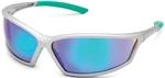 4x4® Silver Sport Frame with Iridescent Green Mirror Lens