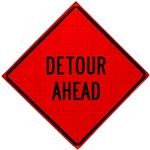 Detour Roll Up Traffic Sign