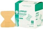 Adhesive Bandage, LITEFLEX, light woven flexible fabric, fingertip, 40 per box